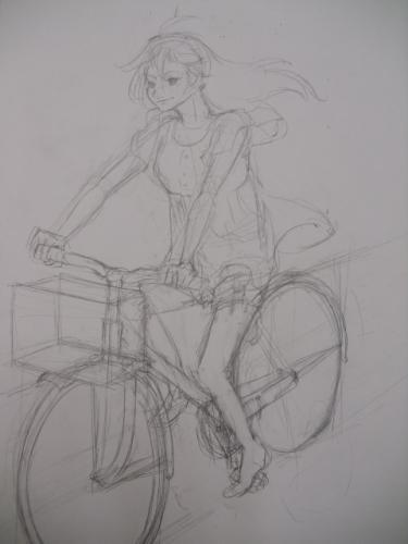 自転車に挑戦。