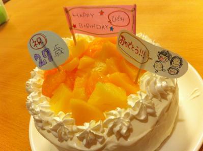 誕生日ケーキ 姉