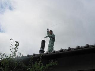 屋根に上って1176