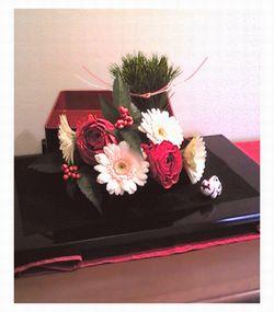 お正月生け花