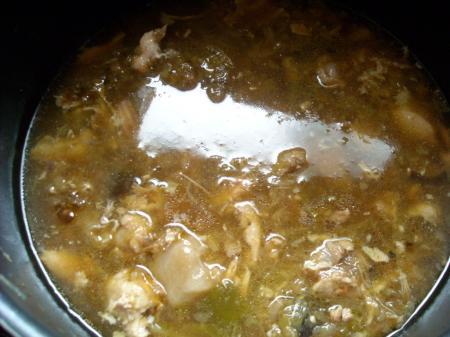 鶏野菜煮込み雑炊①