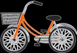 自転車(オレンジ・小)