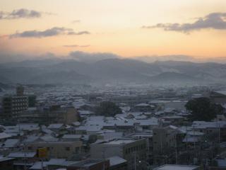 甘木は雪景色