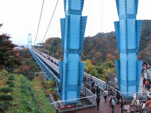 竜神大吊り橋からの景色