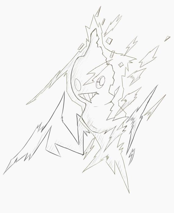ロトムバグ線画