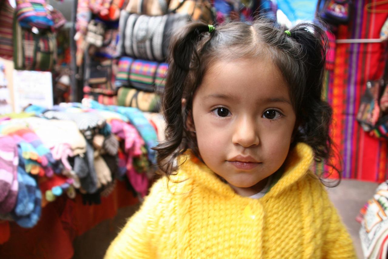 A girl in Peru
