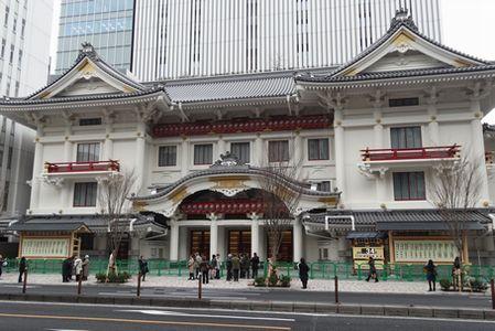 竣工式翌日の歌舞伎座