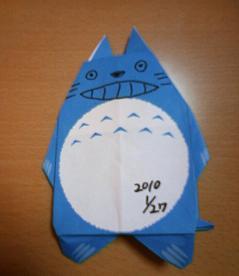 トトロの折り紙