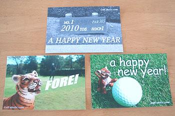 ゴルフ年賀状 2010 寅年!