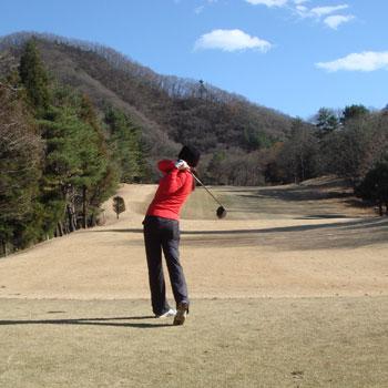相模湖CCで極寒ゴルフ!