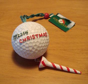 クリスマスのゴルフ雑貨!