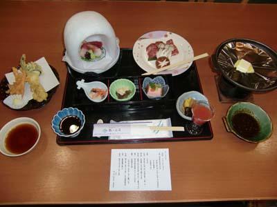 鶴が池荘料理