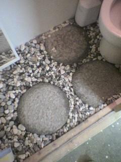 トイレの砂利