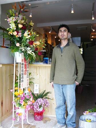 タパとお祝いの花