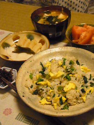 8菜の花の混ぜご飯定食