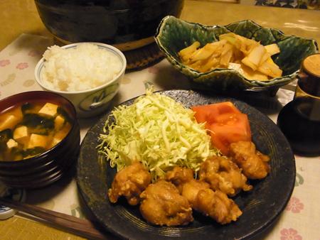 7鶏のから揚げ定食
