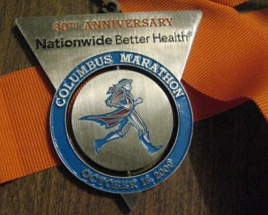 コロンバスマラソン2009メダル