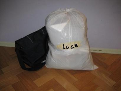 ゴミ袋と共に