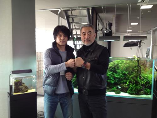 天野氏とツーショット 東海 岐阜 熱帯魚 水草 観葉植物販売 Grow aquarium