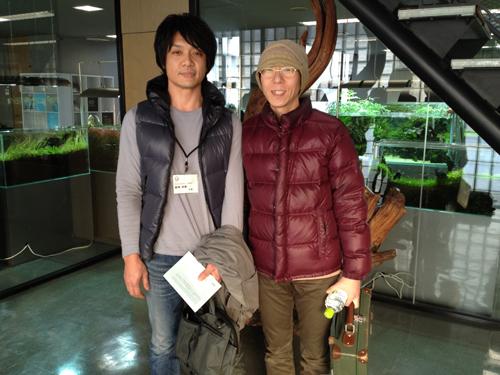 師匠とツーショット 東海 岐阜 熱帯魚 水草 観葉植物販売 Grow aquarium