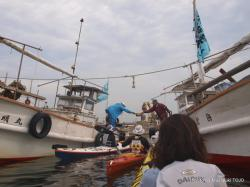 祝島の漁船