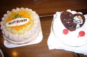 ケーキをふたつも!!