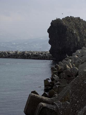 高島漁港・岩1