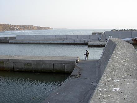 港内の突堤