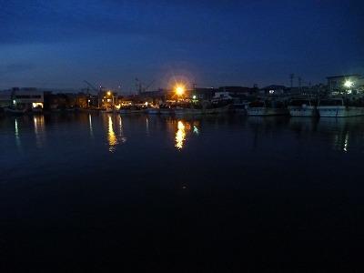 夜の入船漁港