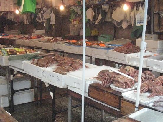 陸奥湊朝市の鮮魚