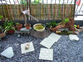 手作りお庭