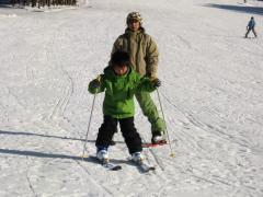 正月休み 白真弓 スキー練習