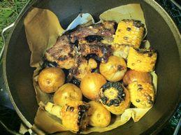 スペアリブと野菜の蒸し焼き