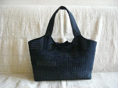 書生絣の可愛いバッグ