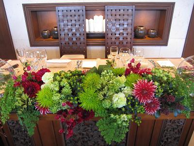 テーブル花-4
