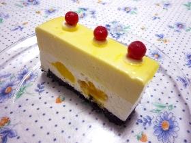 マンゴーとレアチーズケーキ1