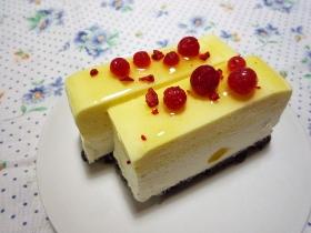 """マンゴーとレアチーズケーキ2"""""""