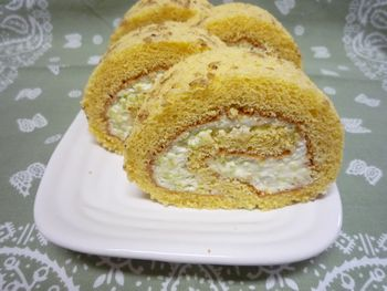枝豆のロールケーキ