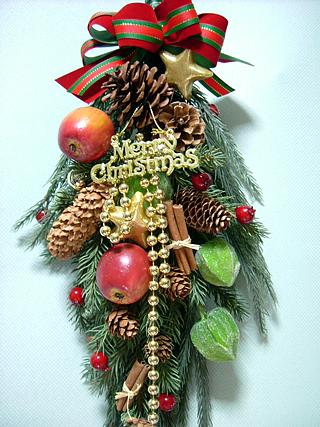 クリスマスドアスワッグ #03