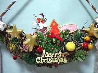 クリスマスドアスワッグ #05
