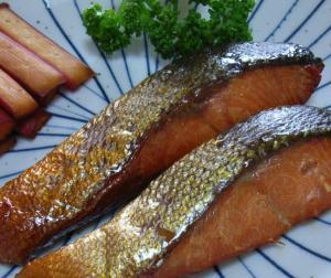 鮭の燻製1