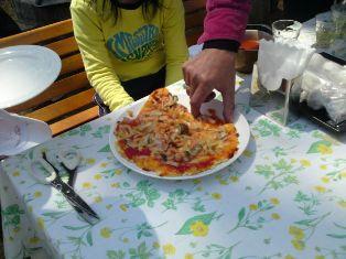 ピザできあがり