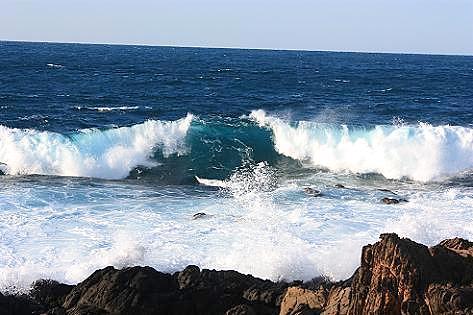 波が・・・