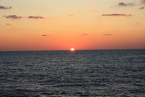 沈む夕陽♪