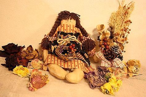 お人形とリースとポプリ♪