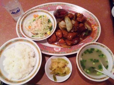 130813一番ラーメン日替り定食600円酢豚