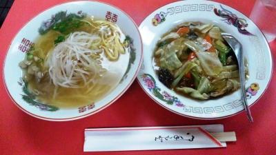 131008十二間楼皿丼ラーメンセット750円