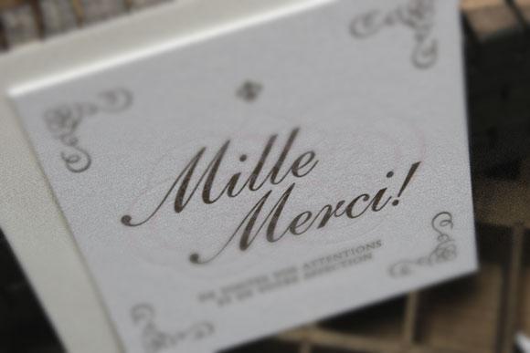 活版印刷のサンキューカード