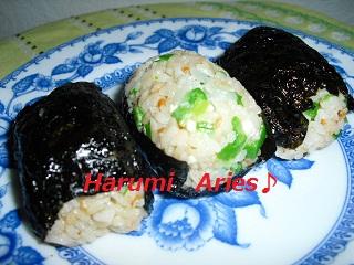 平成21年11月11日鮭飯のオクラ入り1 - 2