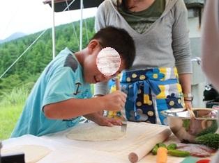高千穂キャンプ ピザ作り